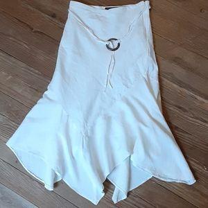 Ivory Linen Skirt Size 10